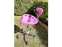 Pink IKEA office swivel chair