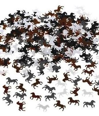i PFERDE weiss braun schwarz Tisch Dekoration Kinder Party NEU (Pferd Konfetti)