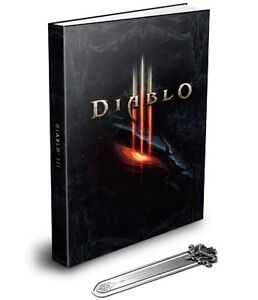 DIABLO III Limited Edition Strategy Guide Hardcover w/ Bookmark