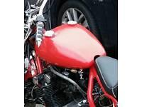 Custom motorcycle fuel tank