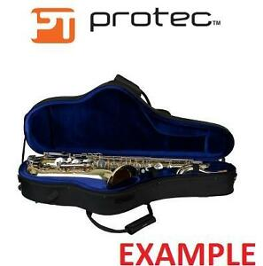 NEW PROTEC ALTO SAXOPHONE CASE PRO PAC, CONTOURED, WATER AND ABRASION RESISTANT,  BLACK 102709044