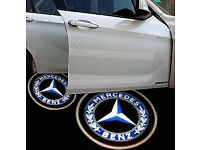 2 x 3D MERCEDES BENZ COB LED DOOR LOGO COURTESY LIGHT LASER GHOST PROJECTOR SHADOW PUDDLE LAMPS MK2