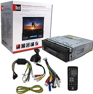"Dual Multimedia DVD Receiver w\7"" LCD Touchscreen"