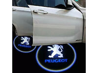 2 x PEUGEOT 3D COB LED DOOR LOGO COURTESY LIGHT LASER GHOST PROJECTOR SHADOW PUDDLE LAMPS