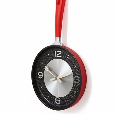 Frying Pan Kitchen Clock