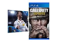 PlayStation 4 with FIFA18 & WW2