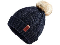 Superdry Navy Blue Hat Brand NEW with Tags 20% OFF - Women's North Cable Beanie Navy