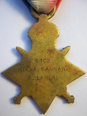 1914-15 Star Medal Reverse