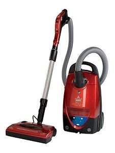 Bissell Digi Pro Canister 6900C Bagged Canister Vacuum, Red