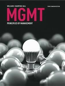 MGMT - Principles of Management Textbook. Like New