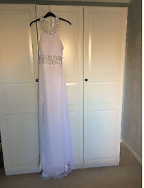 WHITE CHIFFON DRESS SIZE 12 NEW WITH TAGS
