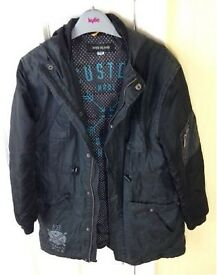 Black zip up hooded jacket from River Island