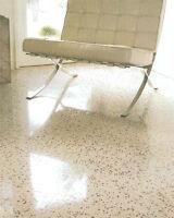 Pollisage de  beton Concrete floor polishing