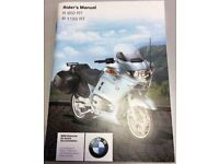 'Riders Manual for a 2003 BMW R1150RT Motorcycle