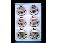 VINTAGE 'MADE IN CHINA' CUPS AND SAUCERS - SET OF 6 - FOR SALE