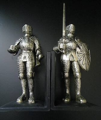 2 ANTIQUE MIDDLE AGES KNIGHT FIGURES