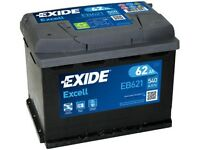 New Car Battery - EB621 3 Year Warranty Exide Battery 62AH 540CCA W078SE - fits many cars