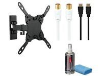 """LOGIK SMALL FULL MOTION TV MOUNT For 10 - 32"""" Televisions Maximum supported weight: 20 kg"""