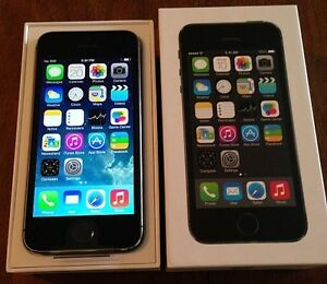 iPhone *5s -*16GB! *UNLOCKED! *BLACK/GRAY* IN BOX W/ACCESSORIES!