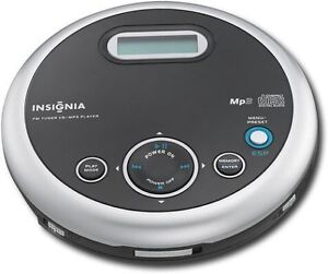 Insignia portable MP3/cd player with tuner