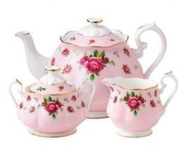 BNIB Royal Albert New Country Rose Pink China 5 Piece Tea Set
