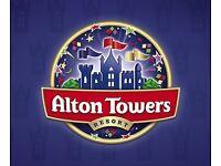 Alton towers tickets x2 22/09/16