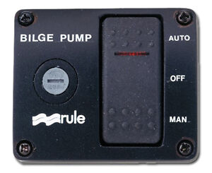 MARINE BILGE PUMP LIGHTED SWITCH PANEL 3 WAY 12V - RULE