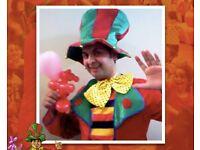 Childs Birthday Party entertainer CLOWN childrens MAGICIAN kids LONDON Balloon modeller hire