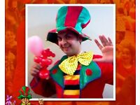 Wedding & Birthday CHILDRENS ENTERTAINER mascot MAGICIAN balloon modeller kids face painter painting