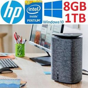 NEW OB HP PAVILION WAVE DESKTOP PC - 129383057 - INTEL CORE PENTIUM G44007 2.9GHz 8GB RAM 1TB HDD WIN10 NEW OPEN BOX
