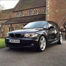 Black BMW 1 Series M Sport 2009
