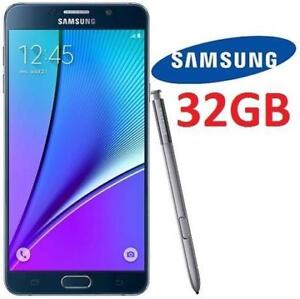 """NEW SAMSUNG GALAXY NOTE 5 32GB - 130614562 - 5.7"""" ANDROID SMARTPHONE SMART PHONE BLACK UNLOCKED"""