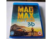 3d blu-ray collection (Mad Max Fury Road, Avatar, Wizard of Oz, Finding Nemo, Jurassic World)