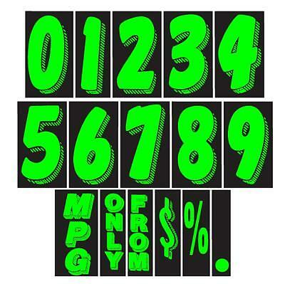7 1/2 Inch Chartreuse Adhesive Number  (multiple item shipping discount)