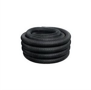 "4"" Black Solid Corrugated Drain Pipe"