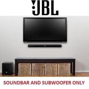 NEW JBL 2.1 HOME CINEMA SYSTEM - 125310647 - BLUETOOTH SOUNDBAR W/ WIRELESS SUBWOOFER