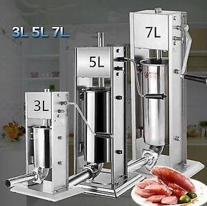 3 Sizes    Sausage Stuffer Filler  Machine Stainless Steel- 3L - 5L  - 11L  FREE SHIPPING