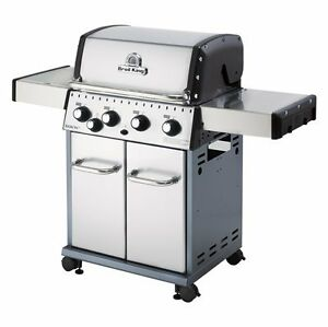 Broil King Baron S440 Stainless Steel 4-Burner 40000-BTU NG