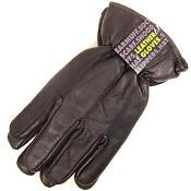Mens Fleece Lined Leather Gloves