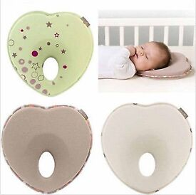 Newborn Anti Roll Pillow Flat Head Neck Prevent Infant Support Baby £9.99