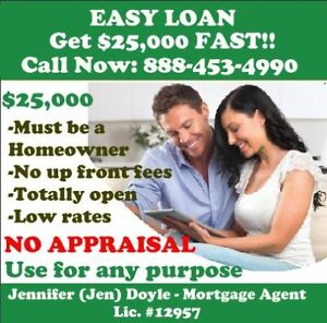 Need $25,000 cash fast? JUST RELEASED. Loans for homeowners