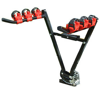 Car & 4x4 Secure Tow Ball Fitment 45kg 3 Bike Bicycle Travel Rack Carrier - NEW