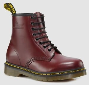Dr Doc Martens 1460 8-Loch Glattleder Leder Smooth Leather Stiefel Boots Neu