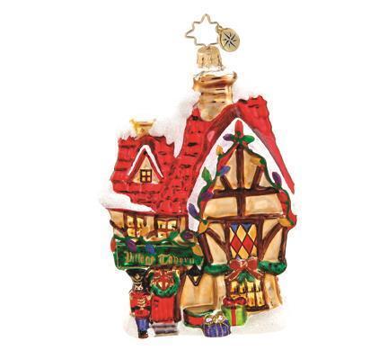 Christopher Radkol VILLAGE TAVERN Christmas Ornament NWT Dickens Village Ltd Ed