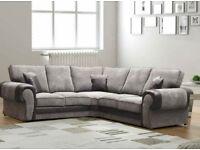 Jumbo size Scs corner sofa with FREE FOOTSTOOL
