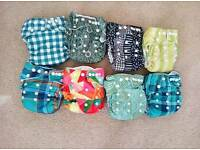 Little Lamb btp pocket nappies with bamboo boosters - cloth/washable/reusable nappies - will post