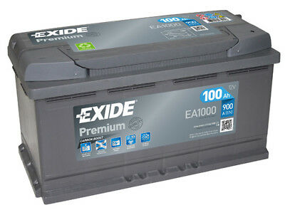 EA1000 4 Year Warranty Exide Battery 100AH 900CCA W017TE Type 017