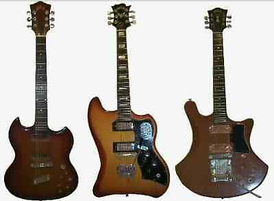 My First 3 Guild Electric Guitars 1972 S 90 1964 200