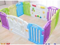 Non-Toxic Plastic Baby Playpen Mixed Colors
