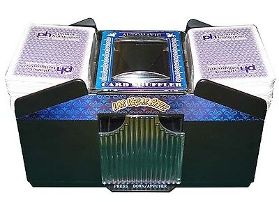 NEW BATTERY OPERATED AUTOMATIC PLAYING CARD SHUFFLER 1- 4 DECKS - FREE SHIPPING*